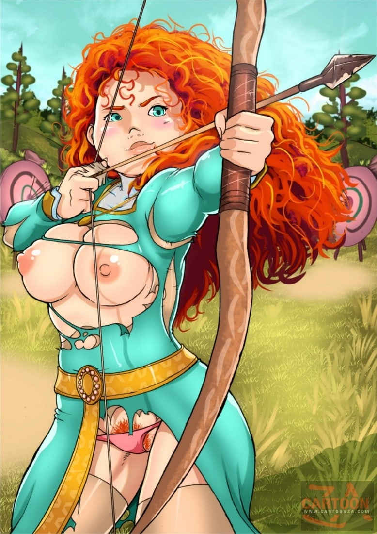 Merida arching with the big tits exposed