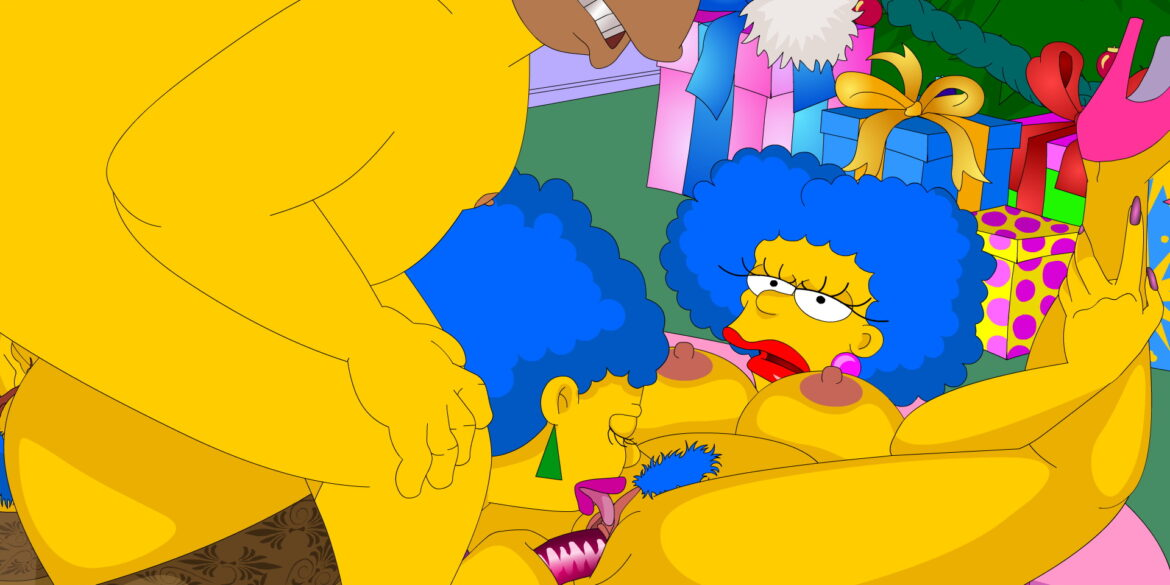 Patty and Selma Bouvier Pussy Eating in a Threesome Party