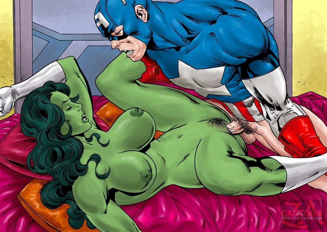 Captain America enjoy banging She-Hulk