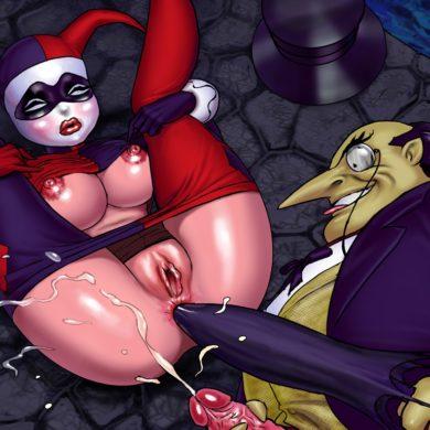 The Penguin Fucks Harley Quinn's Ass