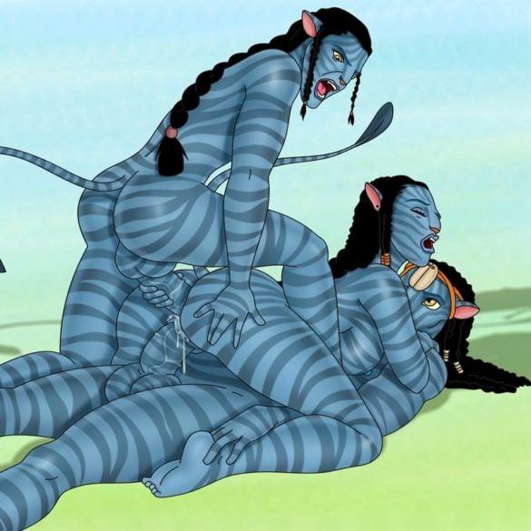 Naughty Na'vi Neytiri Gets DP'ed by Jake Sully and Eytukan