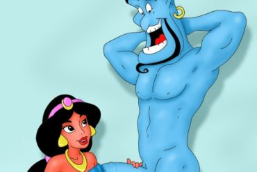 Genie Fucks Jasmine's Face to Grant a Wish