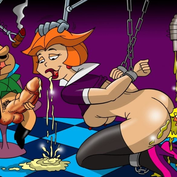 Jane Jetson Is Tied Up and Sucking Dick