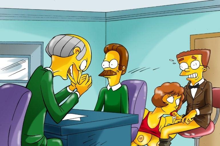 Maude Flanders Blows Waylon Smithers