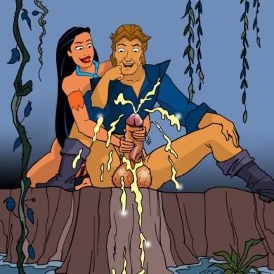 Pocahontas Jerks John Smith's Cock