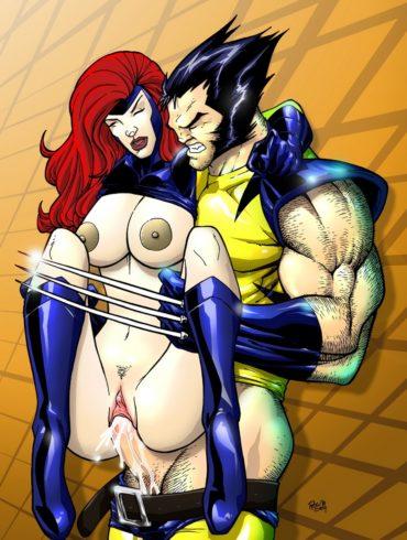 Wolverine Viciously Fucks Jean Grey