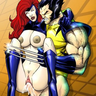 Wolverine Viciously Fucks Jean Grey