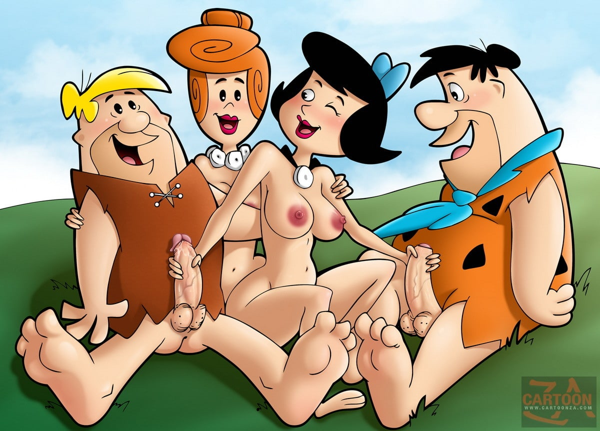 Fred and Wilma Flintstone in Foursome