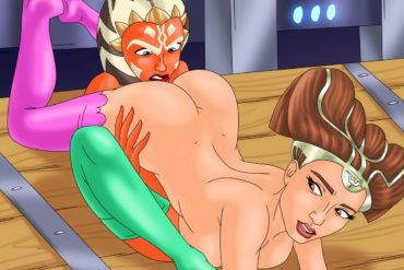 Lesbo Sex with Padme Amidala & Ahsoka Tano