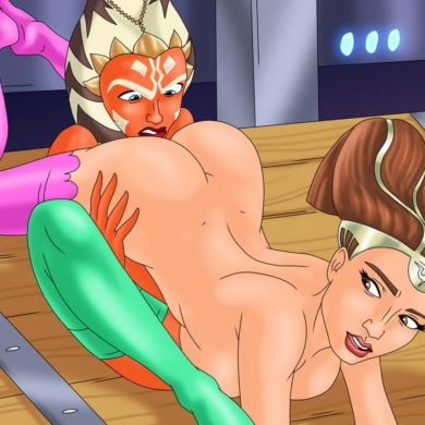Lesbo Sex with Padme Amidala & Ahsoka Tano
