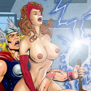 Thor Hammering Scarlet Witch's Pussy