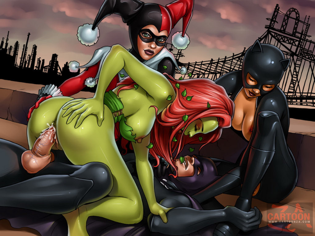 Poison Ivy, Harley Quinn and Catwoman Insane Sex Play